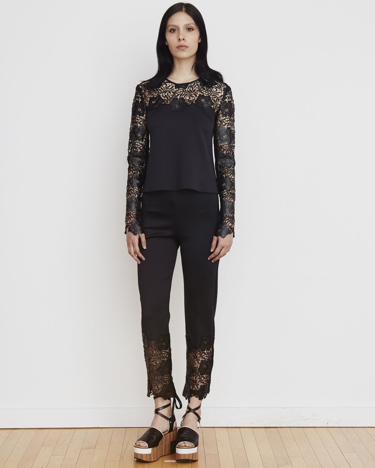Long Sleeve Lace Top & Pants   Holiday 2015 Collection by Clover Canyon
