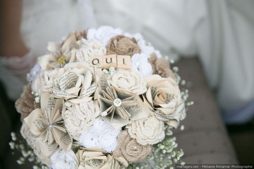Bouquet de mariée : et si vous le choisissiez en tissu ?