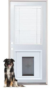 Internal Miniblind Back Door With Pet Doggy Door Pre