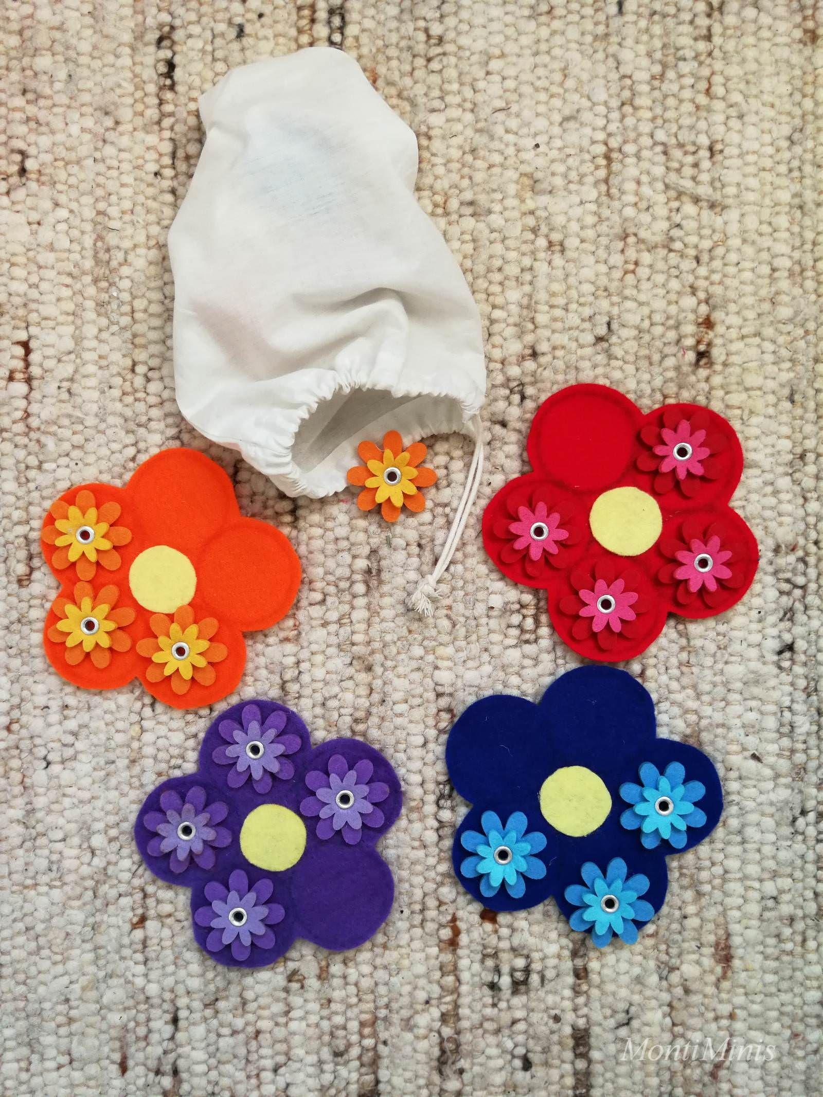 Diy Blumenspiel Blumen Nach Farben Sortieren Einfaches Diy Perfek Blumen Spiele Basteln Frühling Kindergarten Montessori Material Selber Machen Kindergarten
