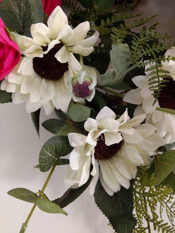 Photo of Front door wreath, spring Wreath, mother's Day wreath, friend Wreath, grapevine wreath, elegant desi