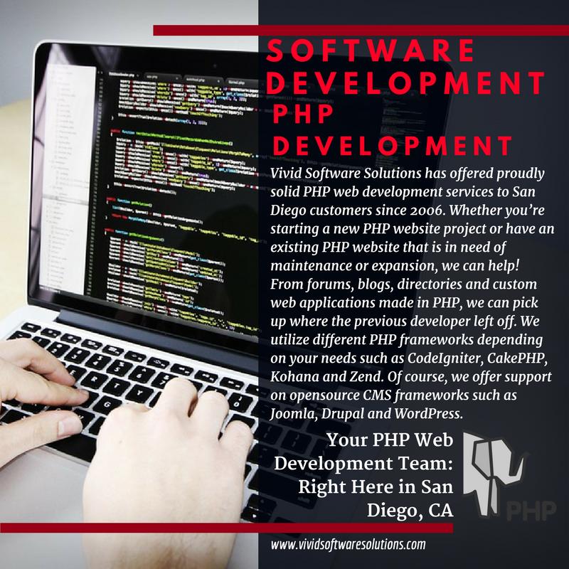 Hire A San Diego Php Developer For Your Custom Php Application Read More Https Www Vividsoftwares Web Design Company Professional Website Design Web Design