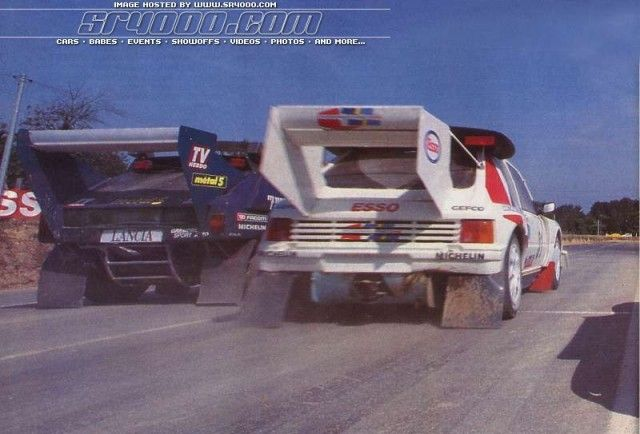 Group B rally cars.