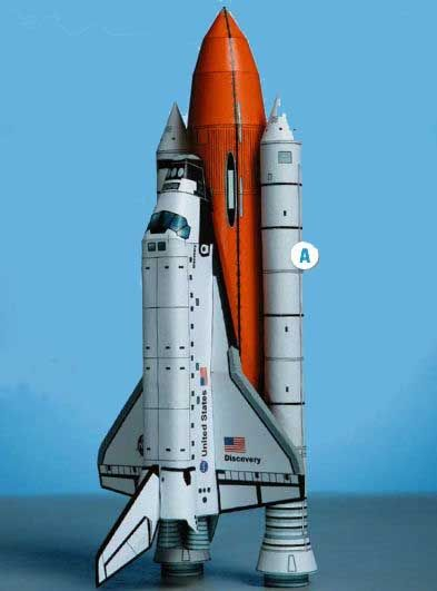 New Paper Craft] Space Shuttle Discovery Ver 4 Free Paper