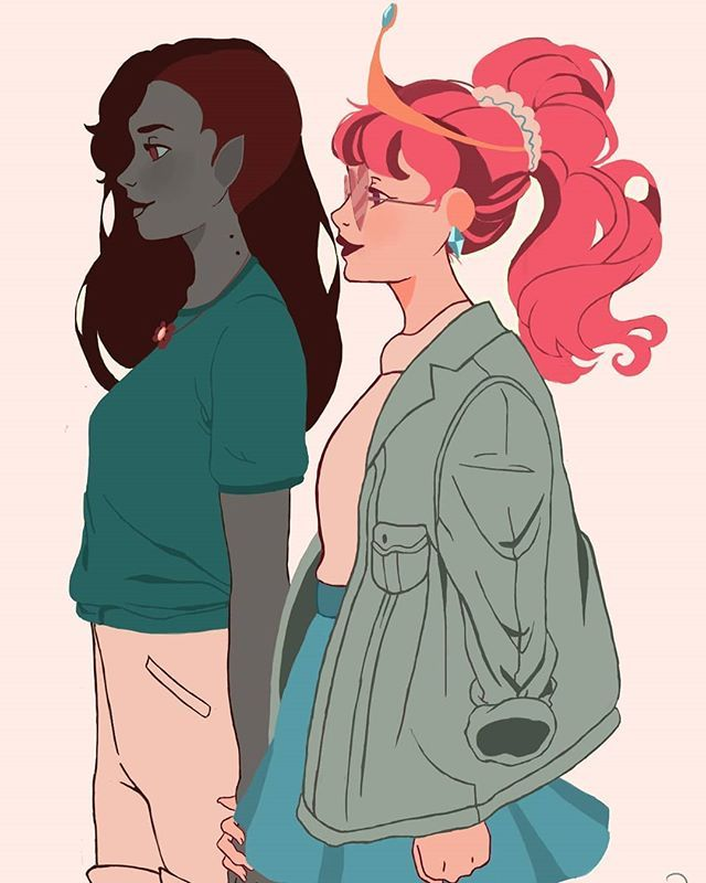 PB and Marceline by Kikulina on DeviantArt