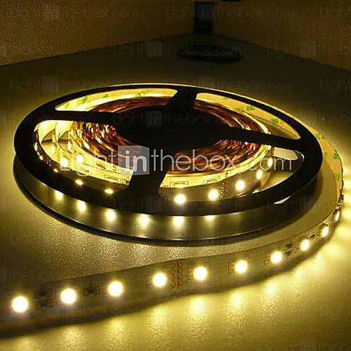 5m bandes lumineuses led flexibles 300 led 3528 smd blanc chaud blanc imperm able 12 v. Black Bedroom Furniture Sets. Home Design Ideas