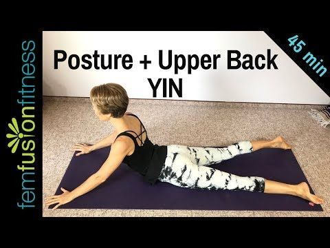 yin yoga for posture and upper back ️ office workers and