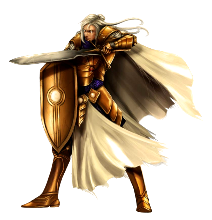 Male Aasimar Paladin Knight - Pathfinder PFRPG DND D&D d20 ...