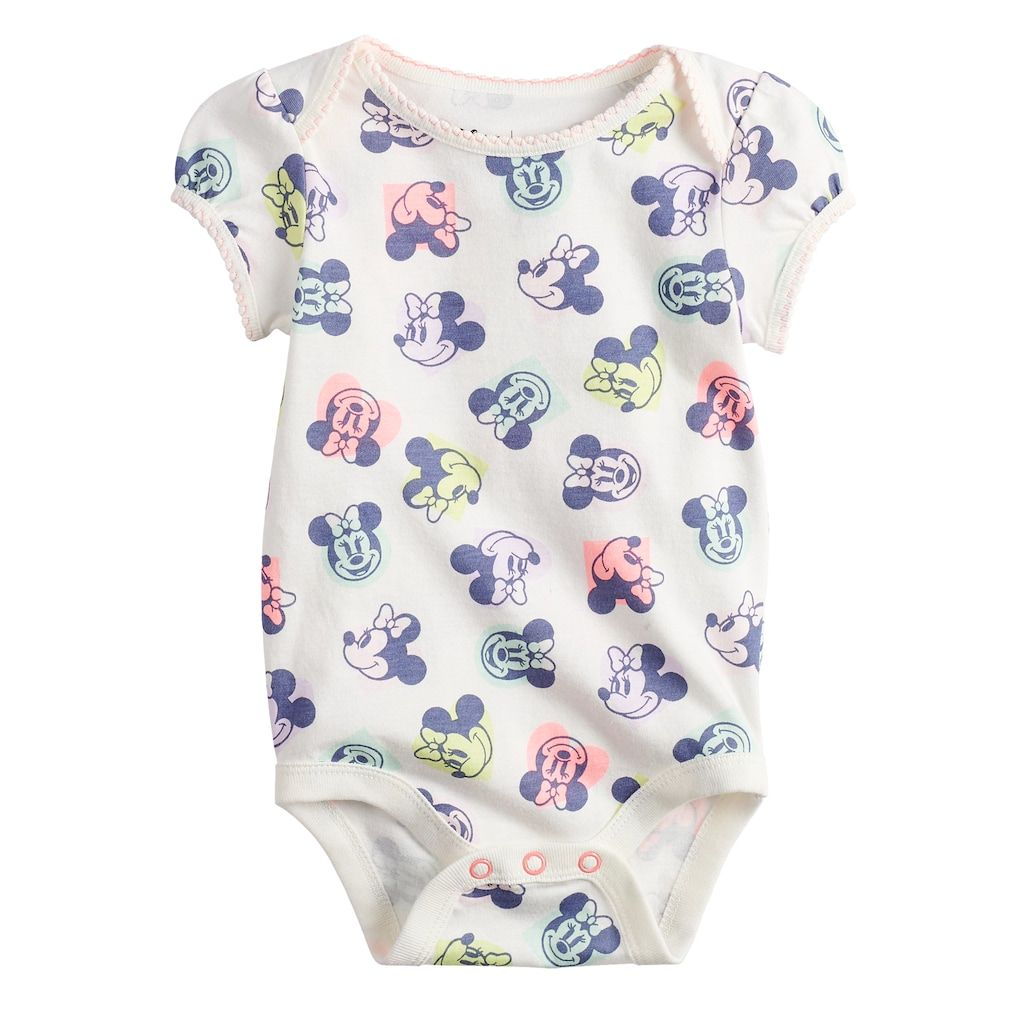 ff519bf7b Disney's Minnie Mouse Baby Girl Bodysuit by Jumping Beans®, Size: 6 Months,
