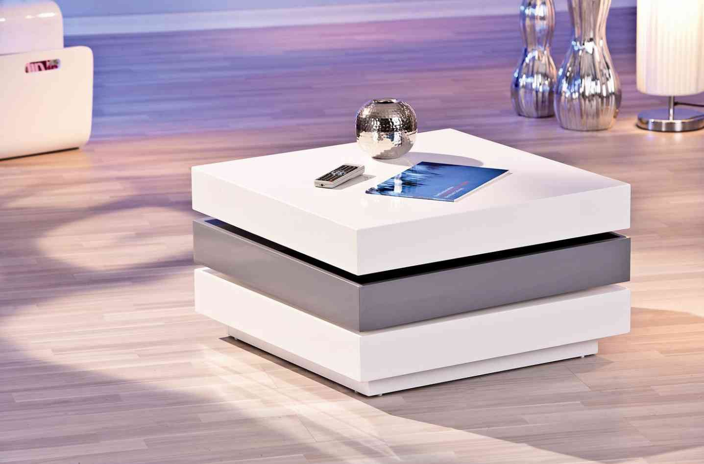 table basse modulable design laqu e blanche et grise star salons