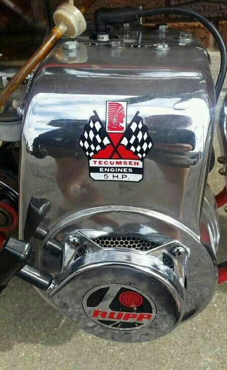 Chrome Tecumseh 5hp | Rupp Minibikes | Mini bike, Go kart, Small engine