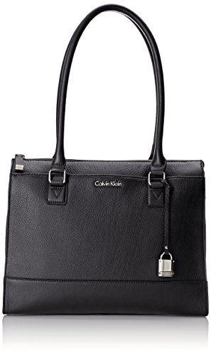 43a69921720c99 Calvin Klein Pebble Leather Satchel Bag