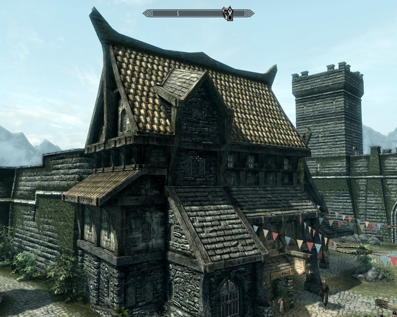 Skyrim Architecture Norse Cabin Skyrim House Building