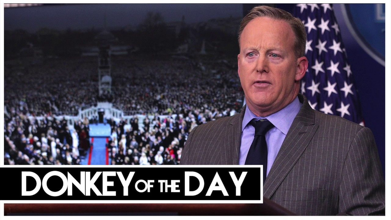 """Sean Spicer (Says Donald Trump Met Martin Luther King Jr. """"Just the Othe..."""
