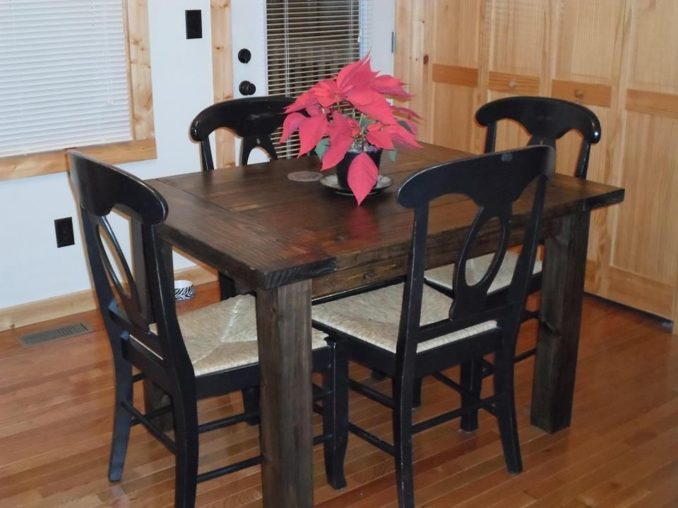 3x4 foot standard height kitchen farm table by amen co for Kitchen table only