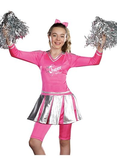 girls hot pink cheerleader teen halloween costume - Teen Halloween Outfits