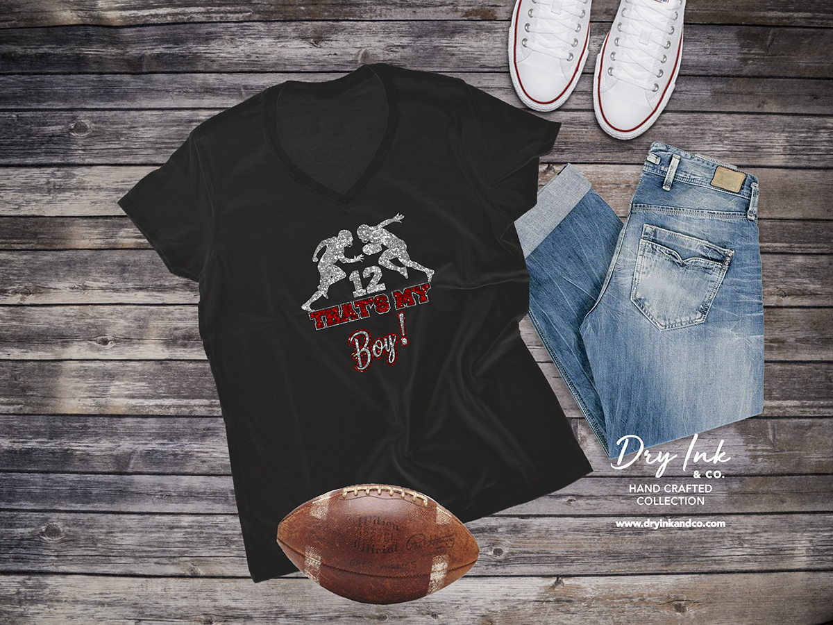 0b6bec31a Football Racerback Tank in Black 🏈🏈🏈 Personalized That's My Boy Football  Shirt, Customized Football Mom Shirt, Womens Personalized Football Shirt,  ...