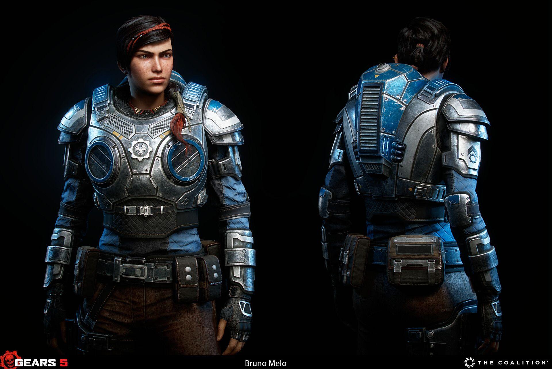 Artstation Gears 5 Kait Diaz Bruno Melo Gears Gears Of War Girls Illustration