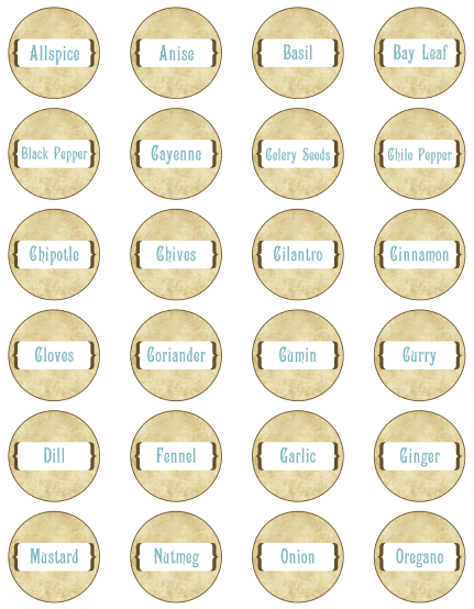 template for spice jar labels spice jar labels by ink tree press