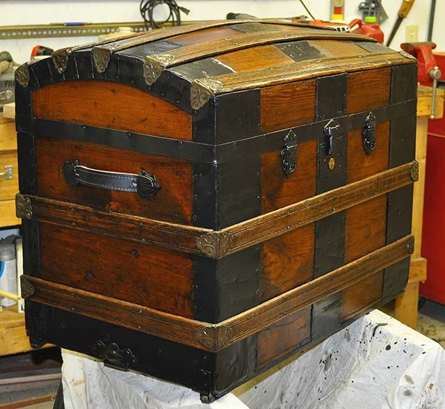 Image detail for -antique trunk restoration21 Day 9 Mission Accomplished!  This is made like my trunk I restored