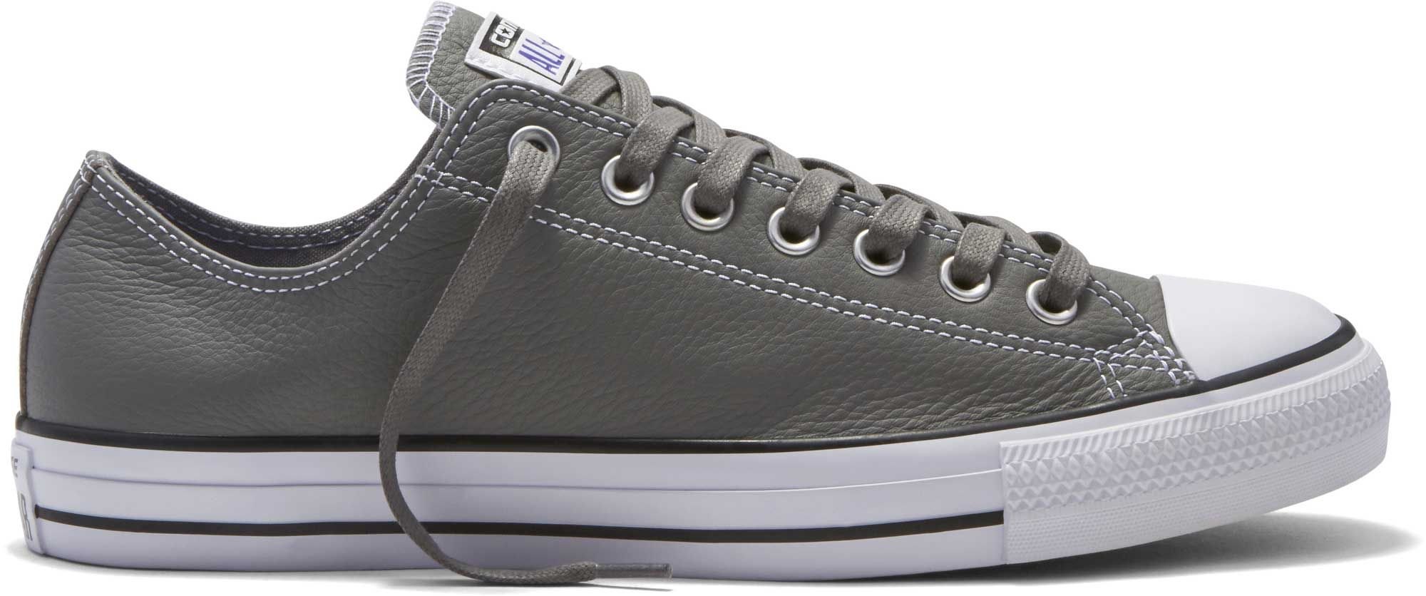 Converse Chuck Taylor All Star Leather Shoes in Grey 153817C
