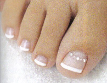 French Toenails Unas Francesas Cute