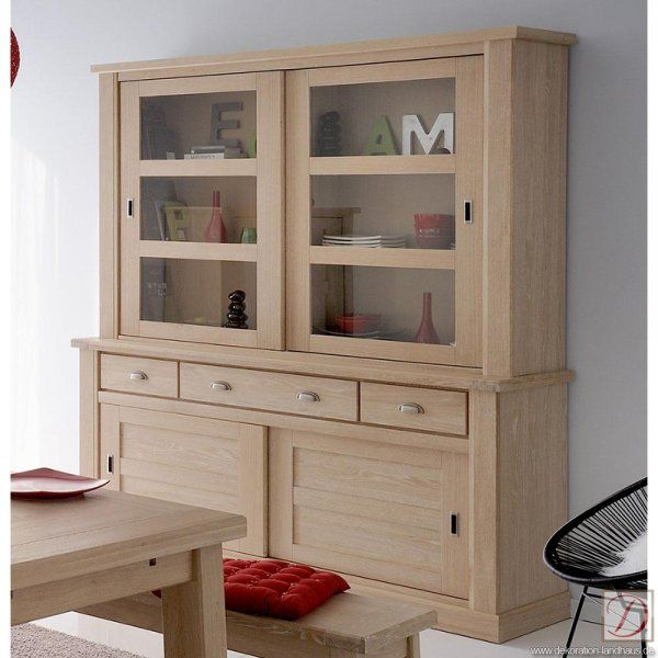 buffetschrank brooke eiche natur hell b195cm massivholz. Black Bedroom Furniture Sets. Home Design Ideas