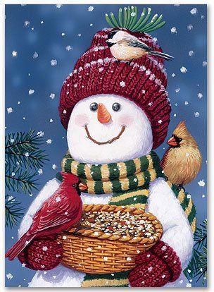 Christmas Snowman Greetings Christmas Snowman Christmas Art Christmas Paintings