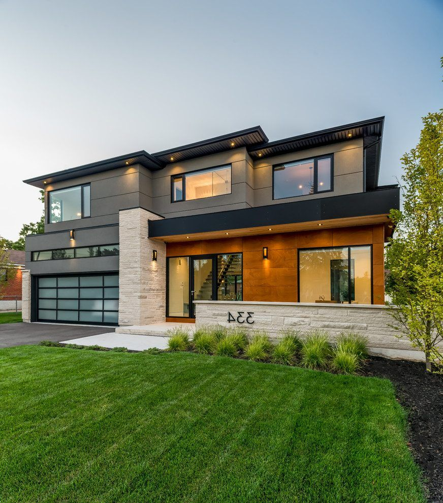 Image Result For Flat Roof Traditional Homes House Designs Exterior Modern Style Homes Exterior Design