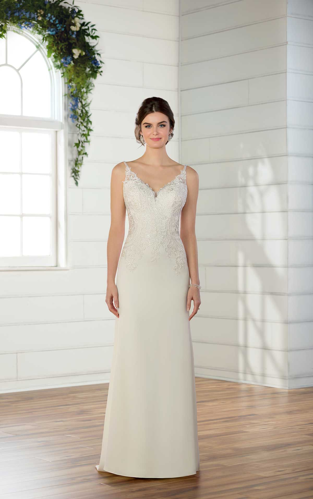 Silver Simple Classic Wedding Dresses