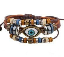 Ba172 cor Handmade turco de couro pulseira ajustável pulseira jóias bijuteria Unisex meninas mulher(China (Mainland))