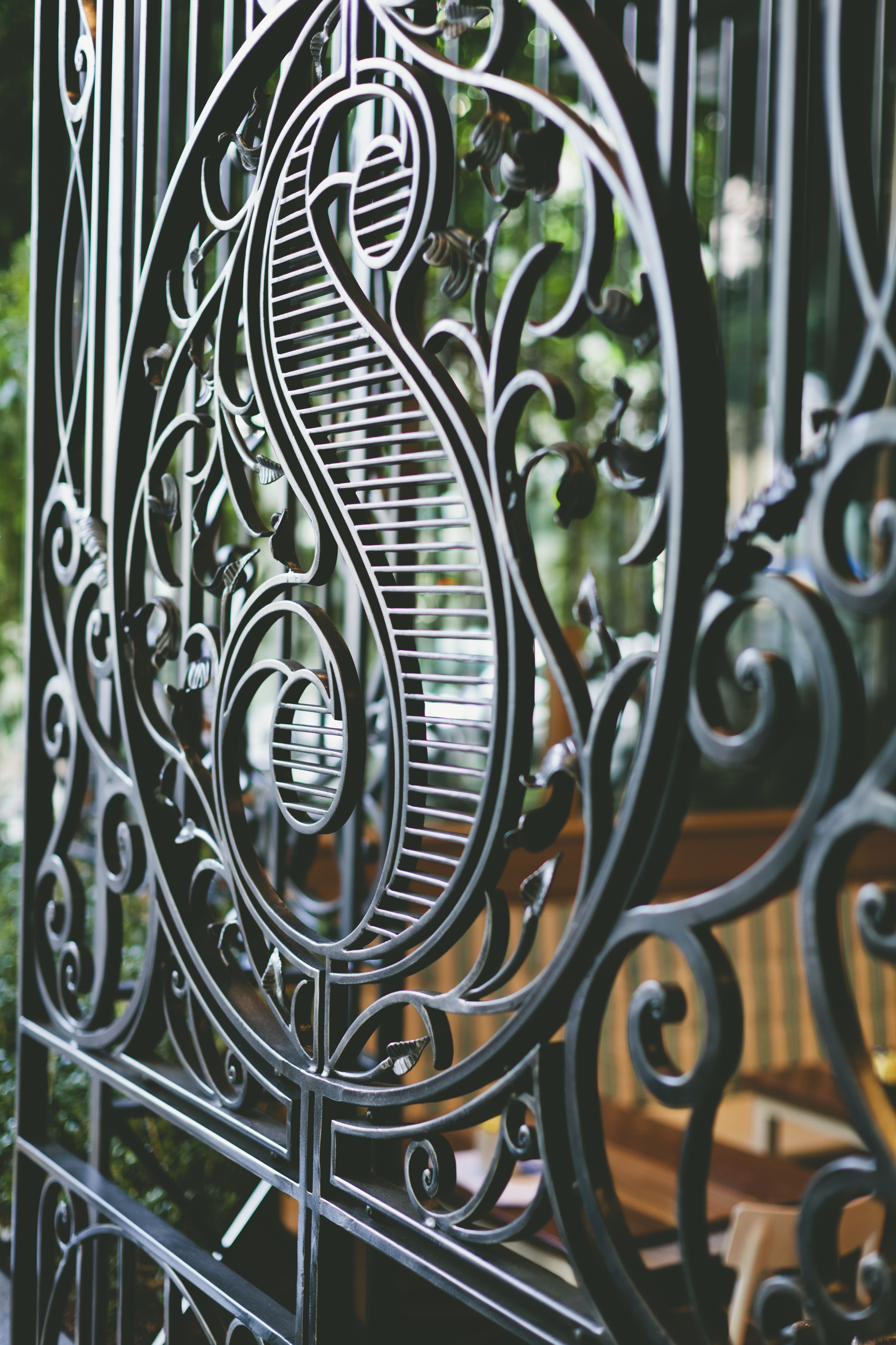 Custom Made Wrought Iron Gates And Security For Spring Restaurant