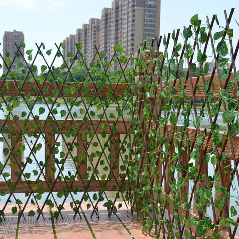 Retractable Artificial Garden Fence Expandable Fau