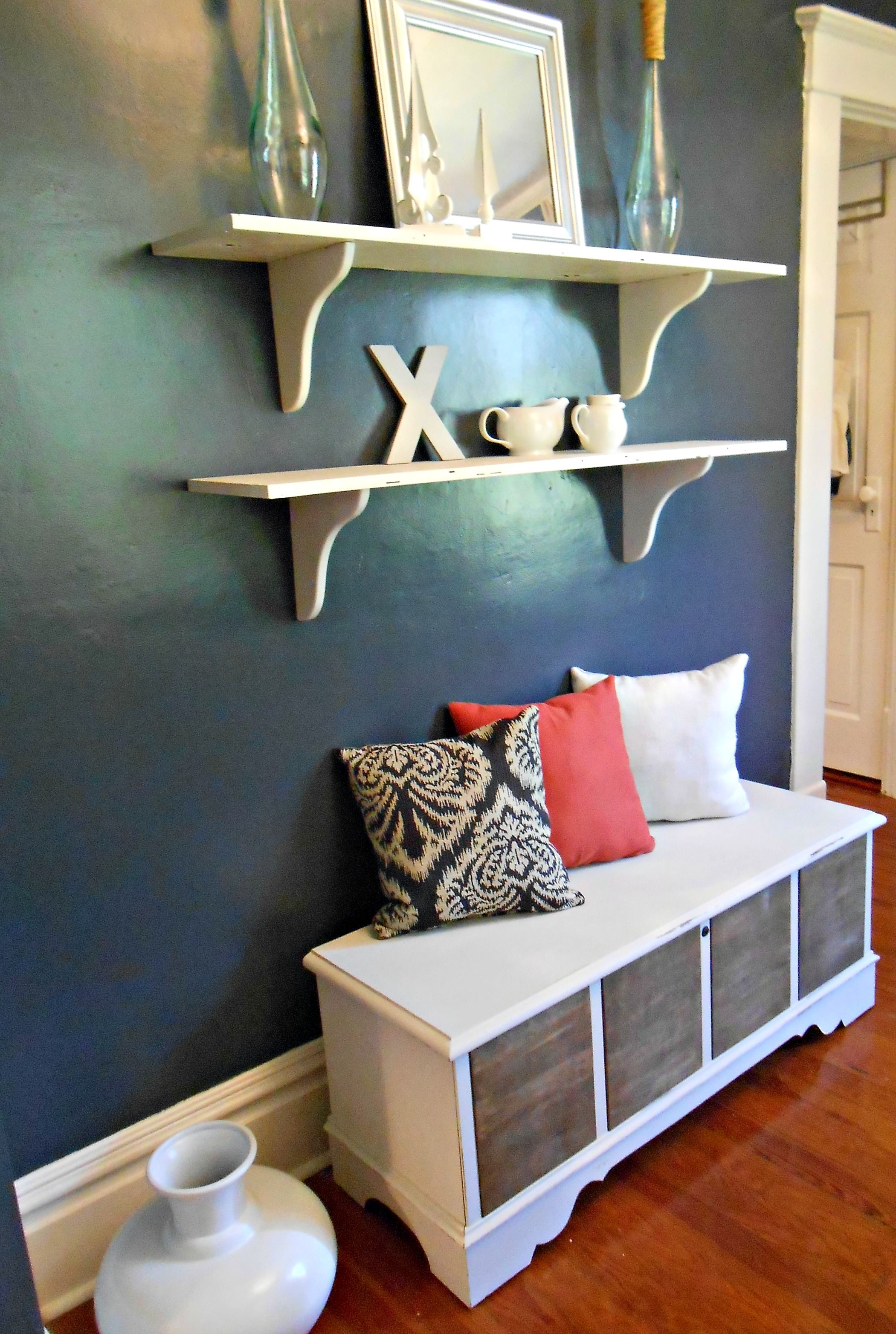 Hope chest turned dining room bench furniture makeover