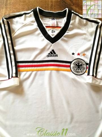 aa4b75a099e Official Adidas Germany home football shirt from the 1998 1999  international season.