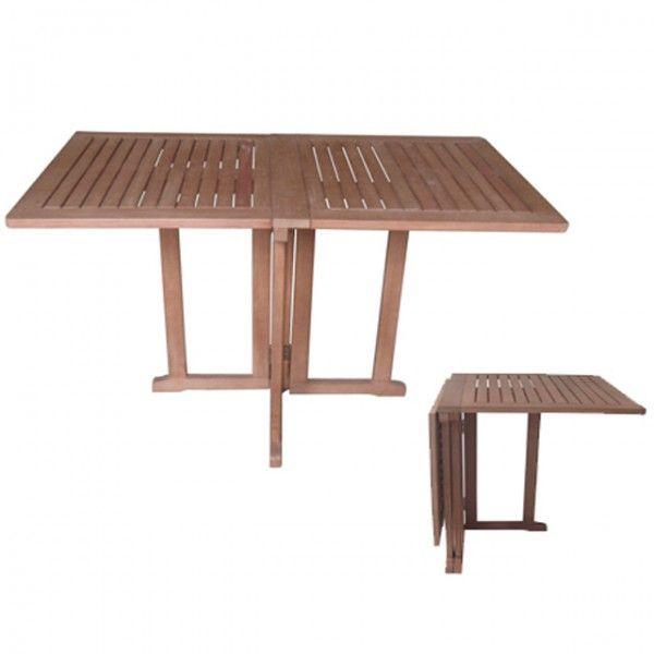 Balkontisch BALTIMORE ECKIG Eukalyptus Geölt Klappbar Klapptisch Tisch  Gartenmöbel Holz Haus Und Garten Gartenmöbel Gartentische