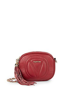 b6caf3e598c Valentino by Mario Valentino Nina Leather Crossbody Bag - Violet - Siz