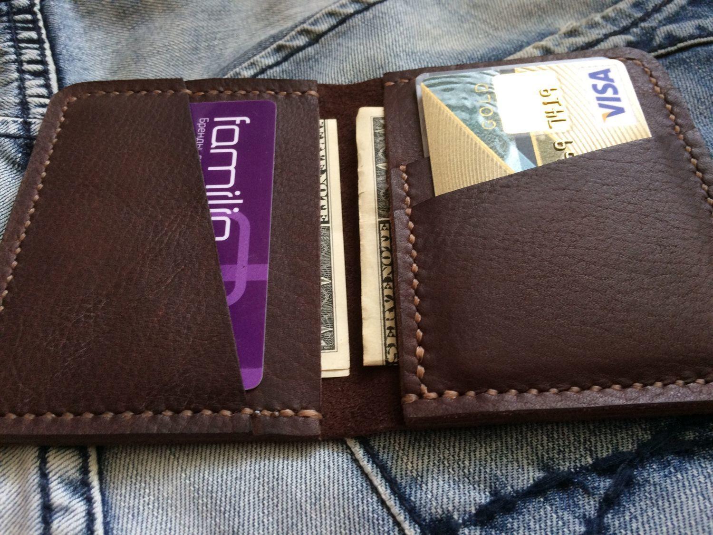 c412e1df332b Купить Кожаный кошелек-картхолдер в интернет магазине на Ярмарке Мастеров