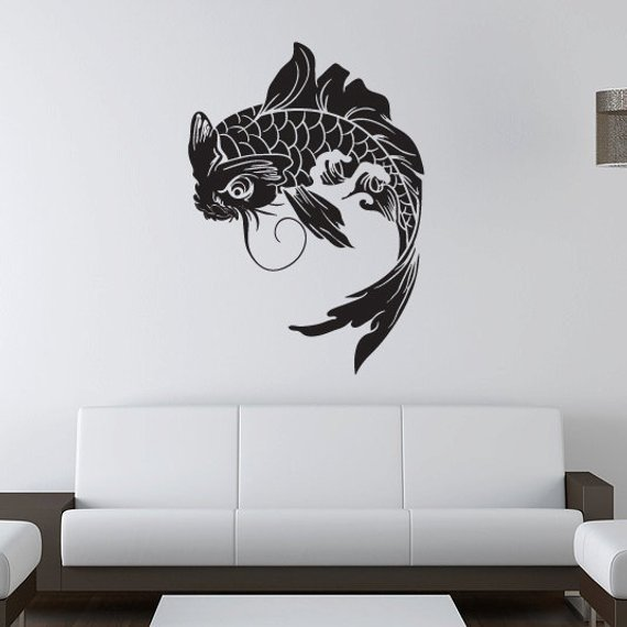 Koi Fish Wall Decal Anese Vinyl Sticker In 2019