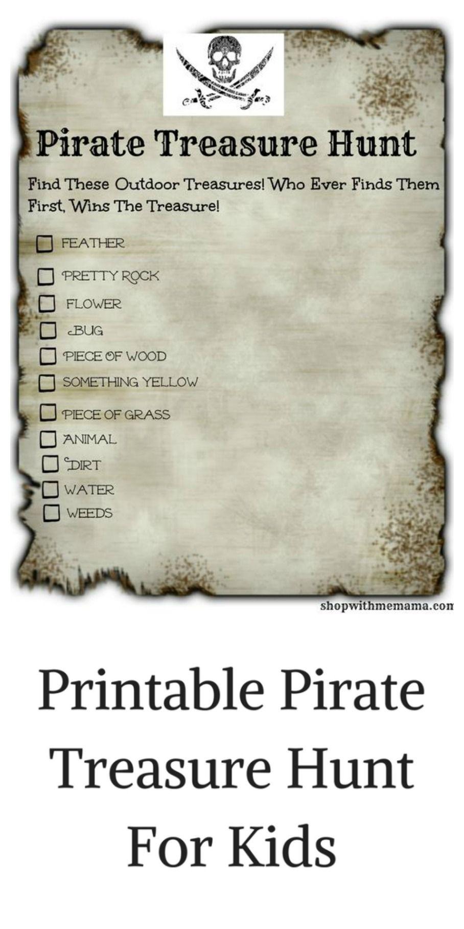 Pirate Treasure Hunt For Kids Free