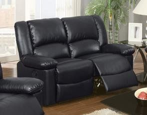 Bobkona Black Bonded Leather Motion Recliner Loveseat by Poundex Poundex & Bobkona Black Bonded Leather Motion Recliner Loveseat by Poundex ... islam-shia.org