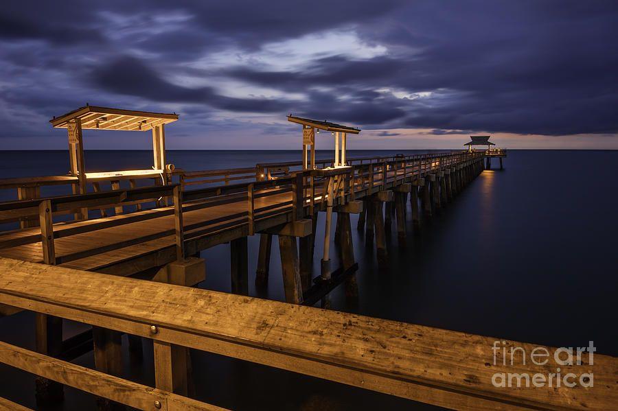 Twilight Over Naples Pier by Brian Jannsen