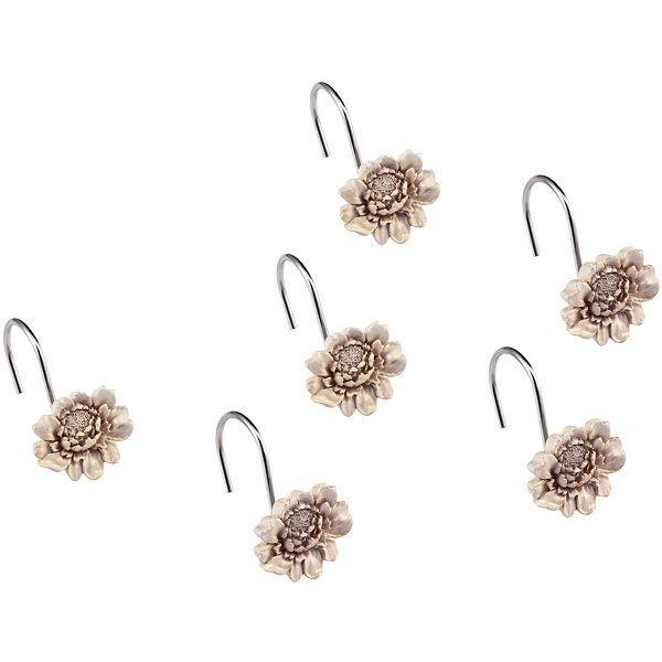 Queen Street® Bianca Damask Floral Shower Curtain Hooks - JCPenney