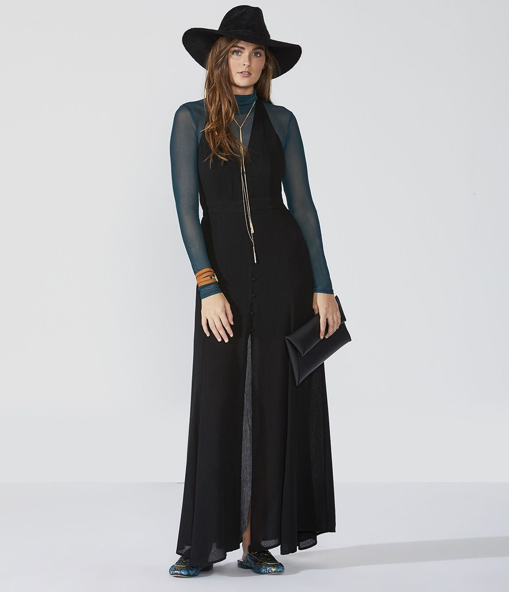 New yearus eve outfit ideas racerback button front maxi turn up