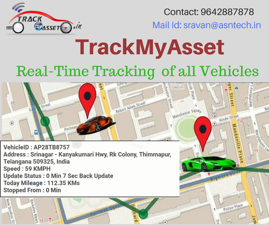RealTime Tracking of all Vehicles with TrackMyAsset