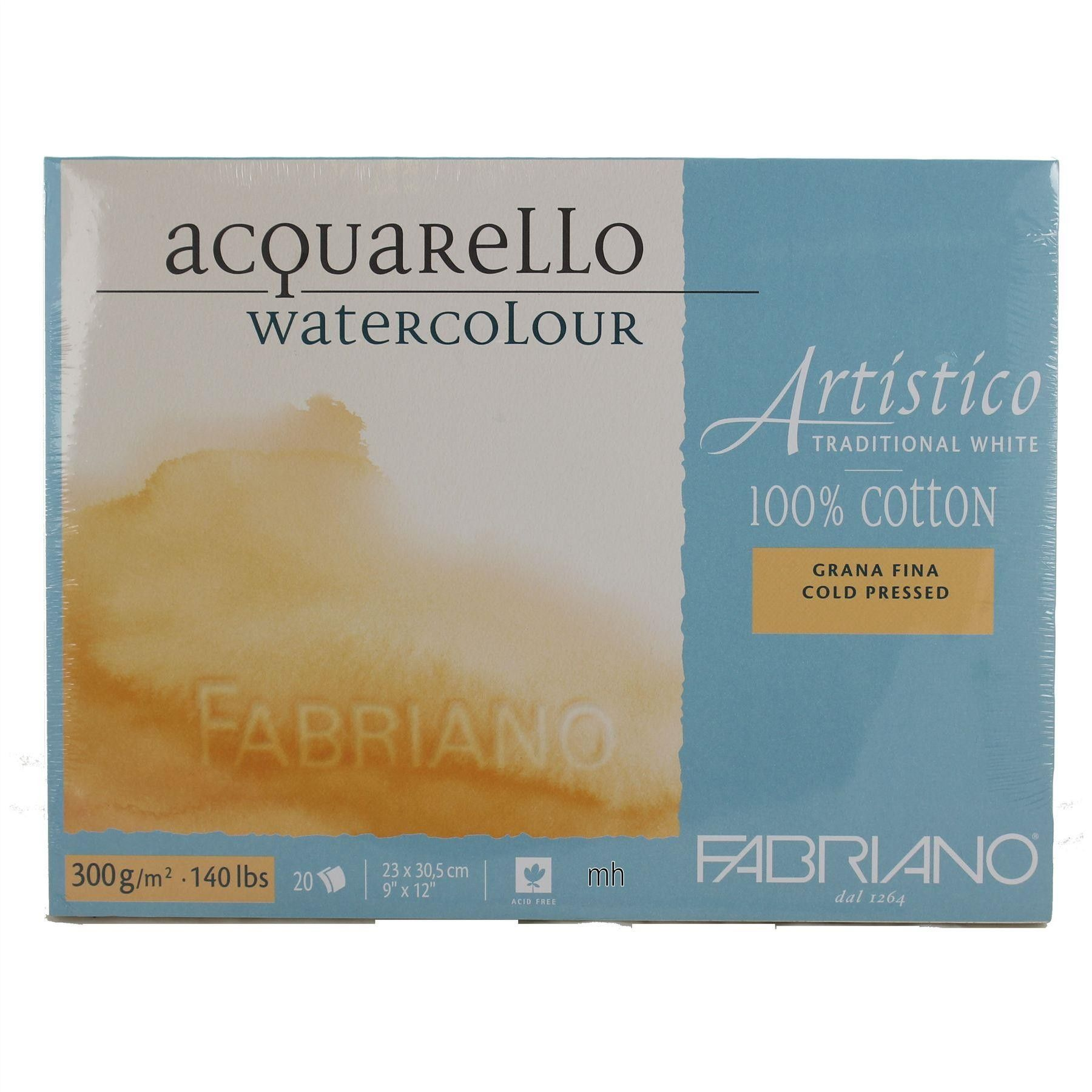 Fabriano Artistico Acquarello Traditional White 100 Cotton Cold