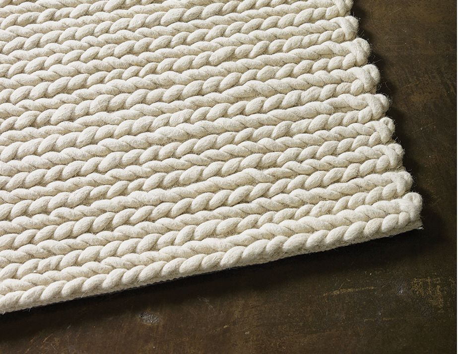 Rope Weave Ivory Nz Wool Rug By The Collection