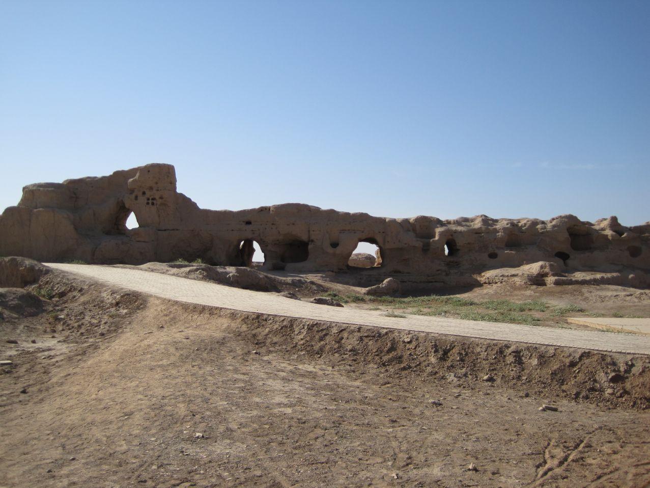 Gaochang Ruins (chinesisch 高昌, uigurisch Qara-hoja (قئارئاهوجئا)) in the Xinjiang Uyghur Autonomous Region, 30 km from Turpan (Turfan), China