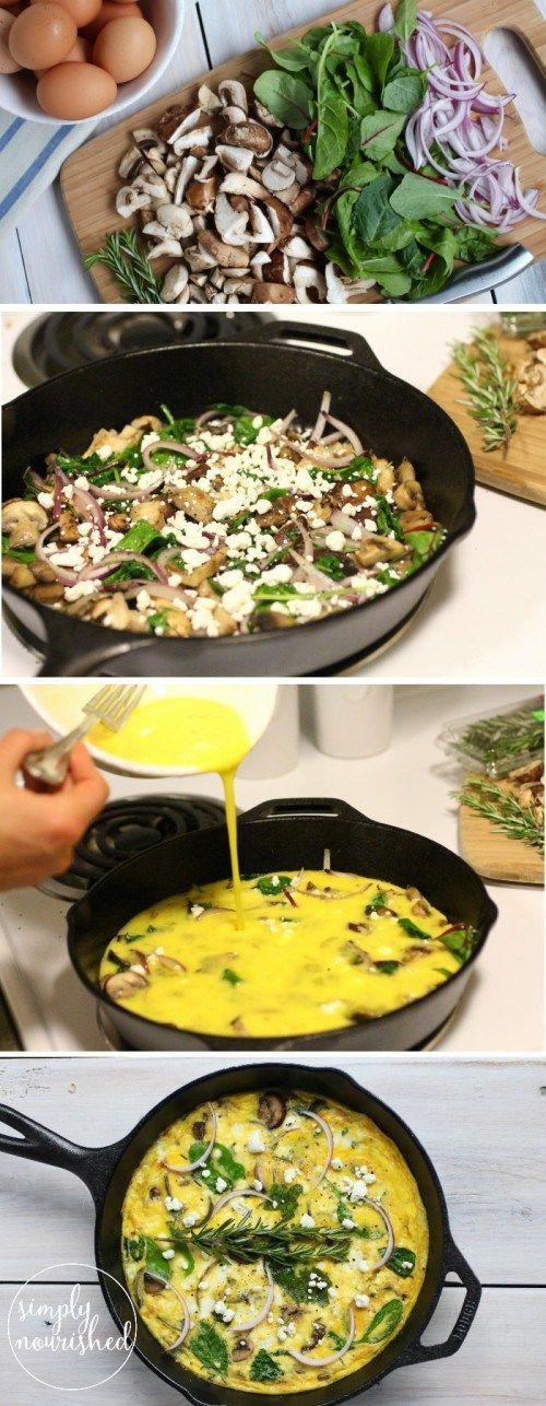 Mushroom Medley Frittata #baconfrittata