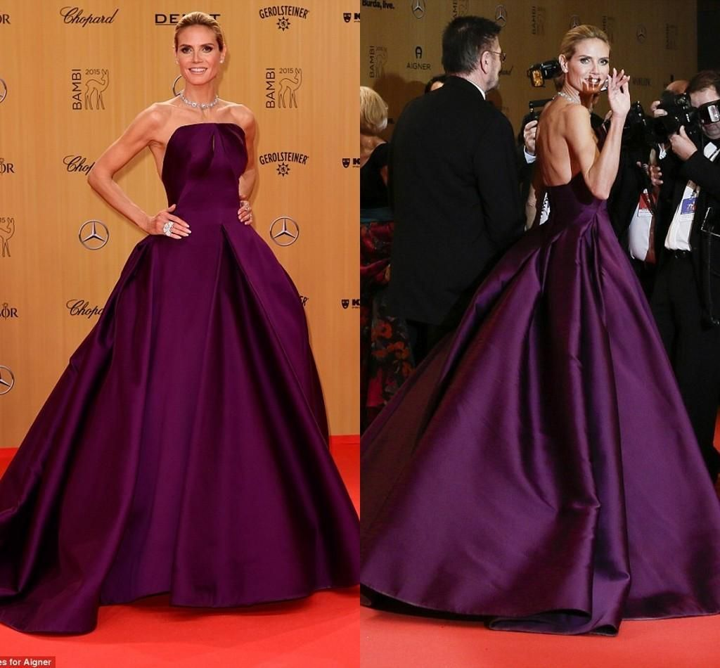 Purple Red Carpet Evening Dresses Long Ball Gown Strapless Low Back Floor Length Pleats Elegant Runway Fashion Celebrity Party Dresses Halter Neck Evening Dresses High Street Evening Dresses From Lovely518, $120.42| Dhgate.Com